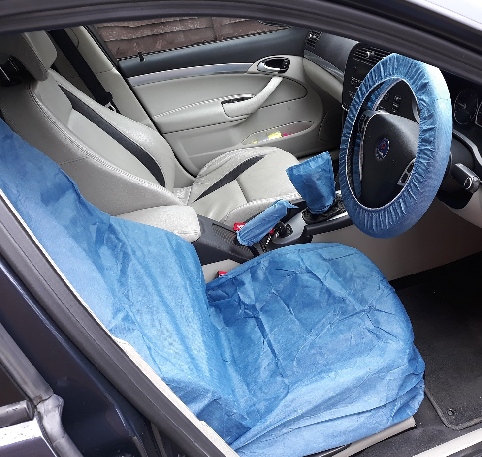 CAR INTERIOR PROTECTION KIT COVERS SEAT STEERING WHEEL