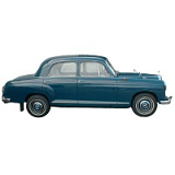 MERCEDES 180 190 CAR COVER 1953-1962 W120 W121